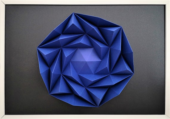 Wall Art Origami Sand Rose