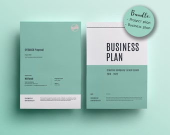 Business plan template etsy bundle of templates business plan template project proposal template two for the price of almost one marketing plan word wajeb Image collections