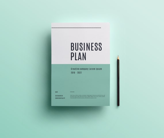 Business plan template word diy project plan instant etsy image 0 friedricerecipe Choice Image
