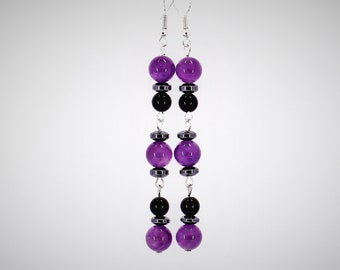 long earrings dangle earrings amethyst jewelry christmas gifts for mother in law gift for mom gifts for wife gift for sister gifts for women
