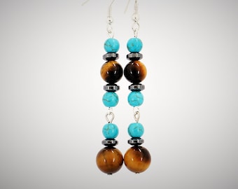 Long Earrings Turquoise Jewelry Dangle Earring Christmas Gift For Mother In Law Mom Birthday Her Sister