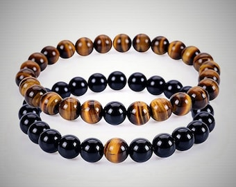 tiger eye bracelet mens bracelet christmas gifts for men gift for boyfriend gift for brother gift for best friends gift for dad gift for him