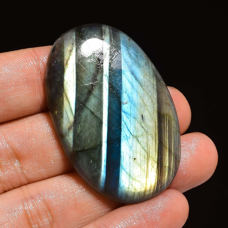 Fabulous Top Grade Quality 100/% Natural Labradorite Oval Shape Cabochon Loose Gemstone For Making Jewelry 73.5 Ct 45X29X6 mm Z-1736