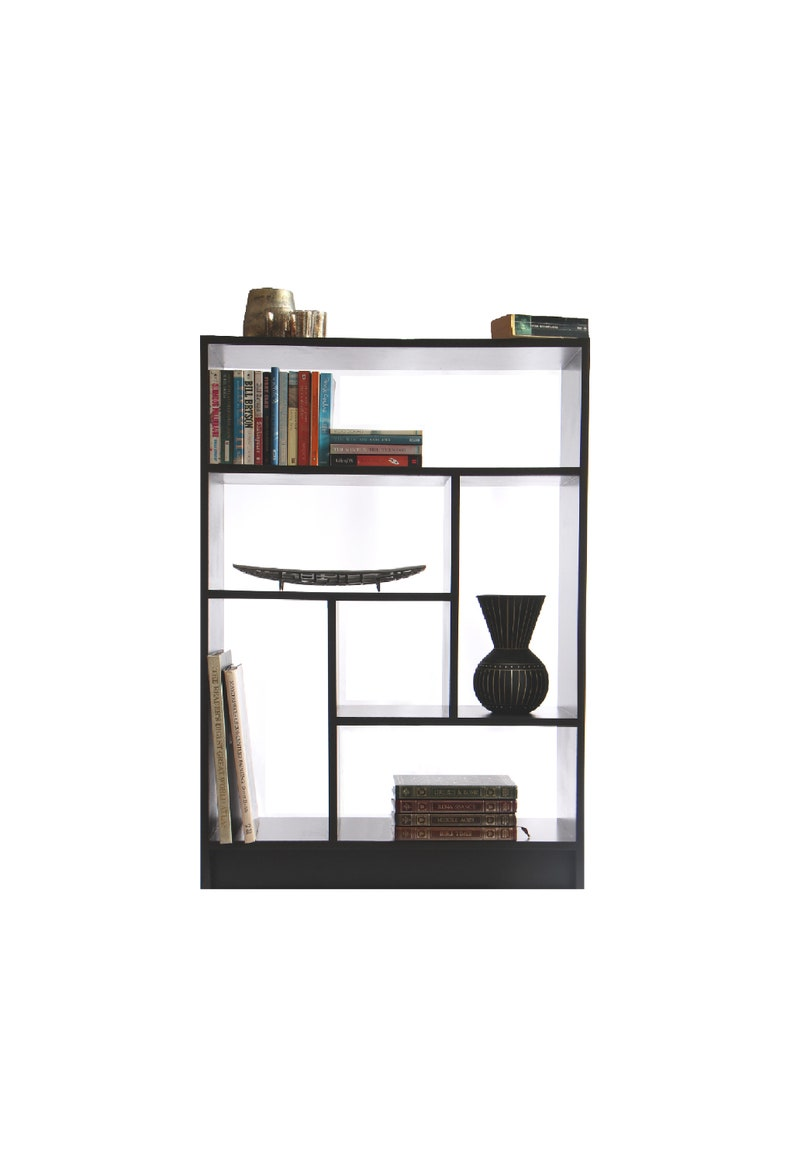Braumhaus Modern Bookcase Book Shelf Interesting Asymmetrical Contemporary Room Divider Free Shipping