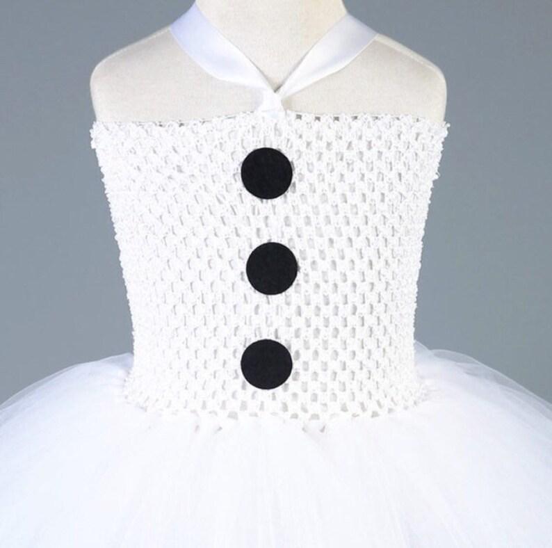 Yp1016 Christmas Retro Dress Christmas Snowman On White