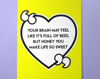 Brain Full Of Bees A5 Card