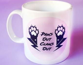 Paws Out, Claws Out 10oz Ceramic Mug