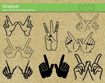 hands animal shadow svg download finger animals shadows etsy