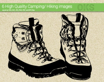 Hiking Boots Svg Etsy