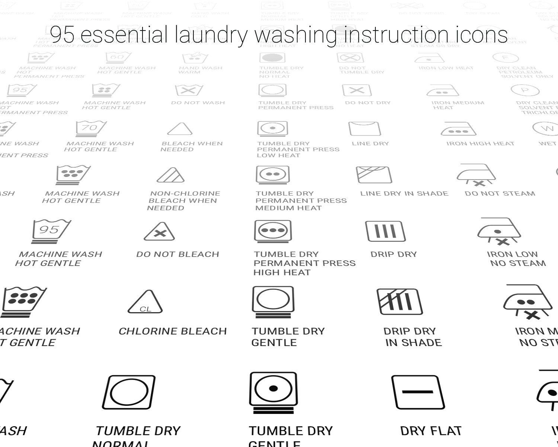 Laundry Care Symbol Svg Clothes Washing Instruction Digital Etsy