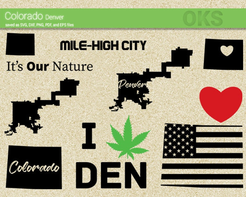 Colorado Svg Download Denver Clipart American Flag Vector Etsy