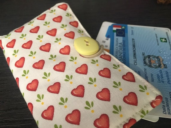 wallet Padded bag in American cotton Business Card holder