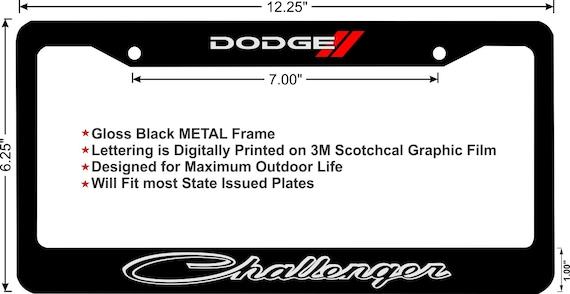 DODGE CHALLENGER Plain Custom License Plate Frame   Etsy
