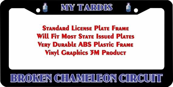 Dr. Who My Tardis Broken Chameleon Circuit Custom License   Etsy
