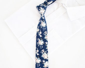 0936fea76158 Navy Floral Mens Skinny Ties, Floral Ties Navy, Floral Ties For Boys, Floral  Ties For Men, Floral Ties Skinny, Wedding Ties,Ties For Dad