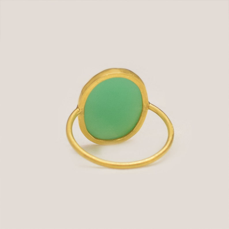 Chrysoprase Gemstone Vintage Style Wedding Ring 925 Sterling Silver Diamond Pave Promise Proposal Anniversary Fashion Women/'s Ring Jewelry