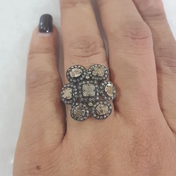 1 60 Ct Diamond Pave 14k Gold Wedding Party Wear Vintage Style Etsy