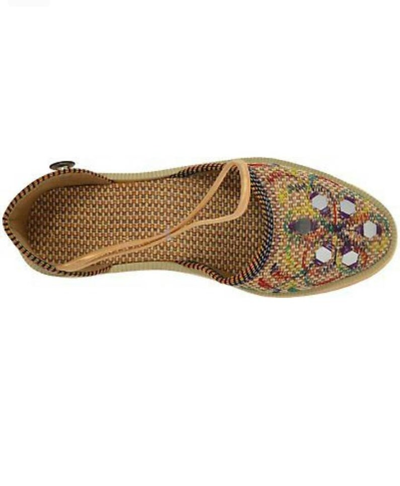 Slippers Indian Rajasthani Ethnic Mules Handemade Mojari Traditional Mojri Us Size 9