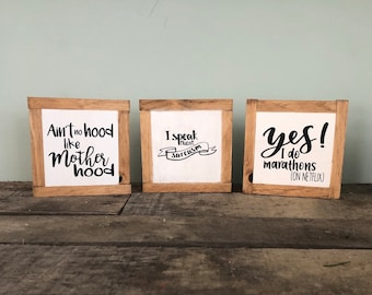 Funny Home Decor Rustic Wood Farmhouse Style Humor Bog Road Designs