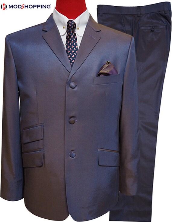 Two Tone Suit Golden Blue Two Tone Tonic Suit Etsy