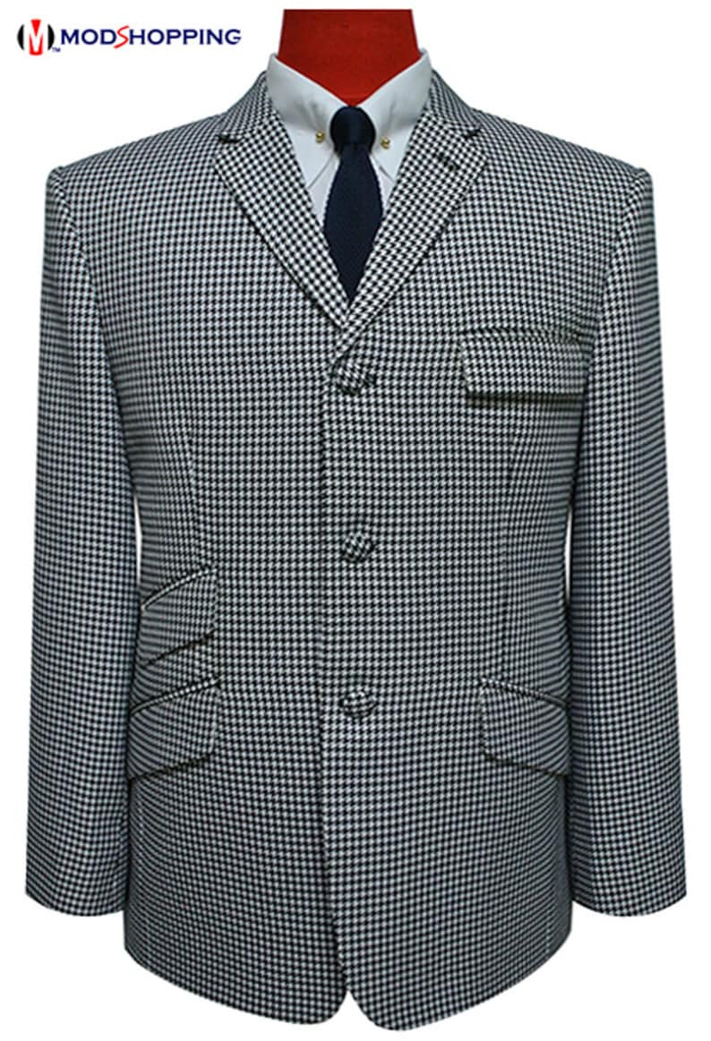1960s Mens Suits | 70s Mens Disco Suits Dogtooth jacket | big dogtooth check jacket for man $176.35 AT vintagedancer.com