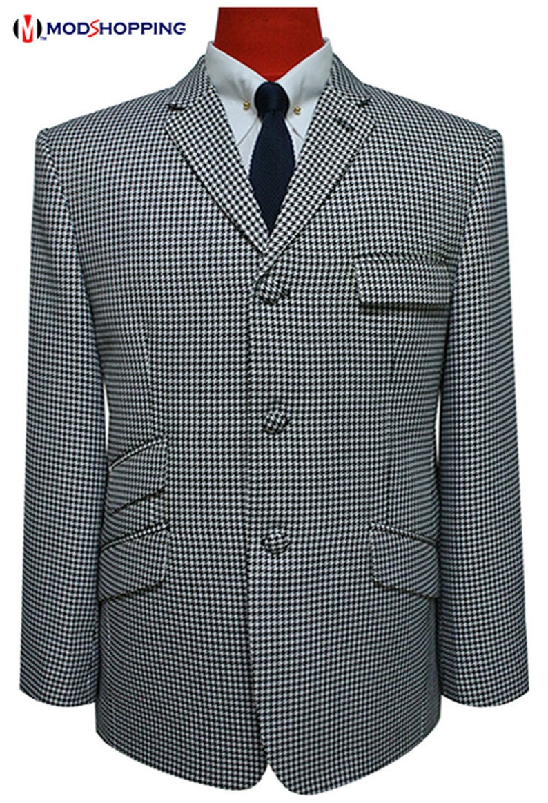 Men's Vintage Style Suits, Classic Suits Dogtooth jacket | big dogtooth check jacket for man $176.35 AT vintagedancer.com