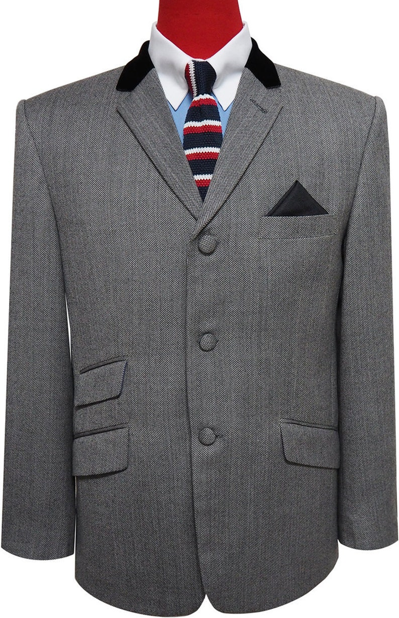 Men's Vintage Style Suits, Classic Suits Mod Herringbone jacket | Herringbone jacket for man $176.35 AT vintagedancer.com