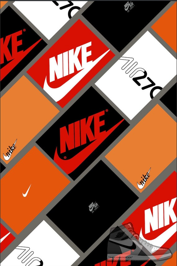 Suponer Isla de Alcatraz Todos  Nike Sneaker Box Wall Art Poster | Etsy