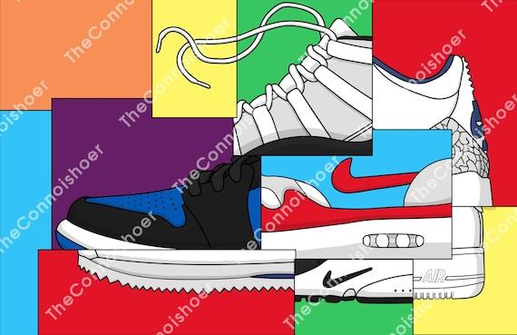 poster zapatos nike