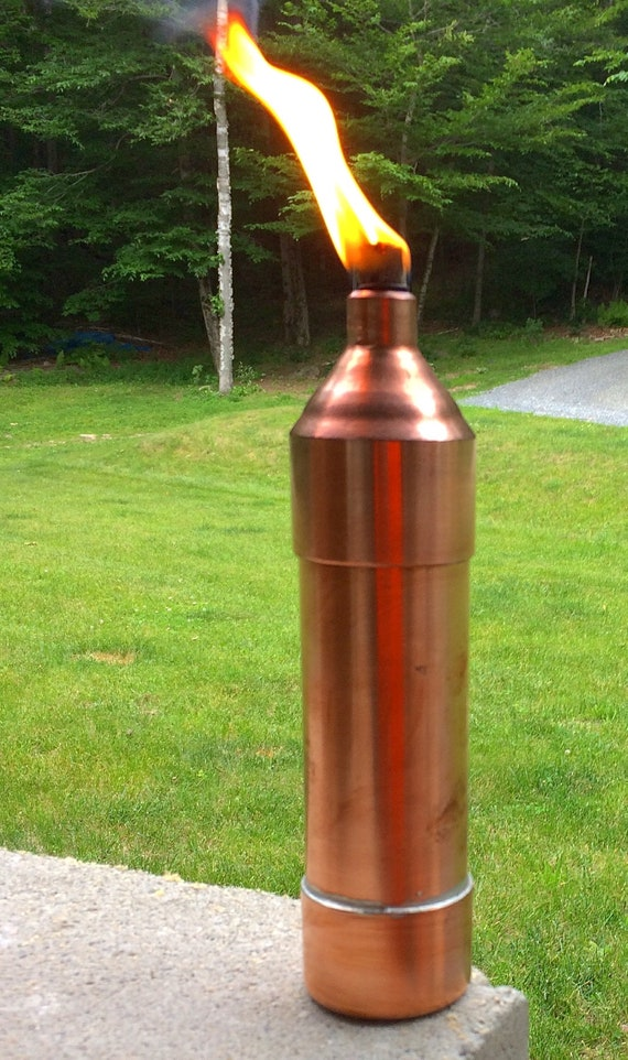 Copper Table Top Tiki Torch | Etsy