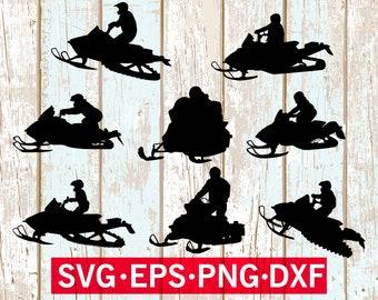 Snowmobile svg , Snowmobiles svg bundle ,Snowmobile dxf , Snowmobile cut file ,Snowmobile silhouette studio , Snowmobile cricut , cut files