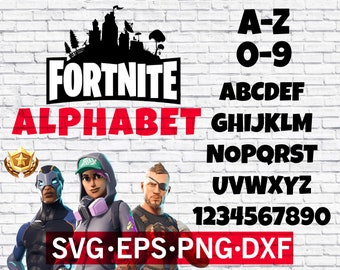 Fortnite Alphabet svg , Fortnite font svg , Fortnite letter svg , Fortnite silhouette , Fortnite cricut , Fortnite numbers , Fortnite cameo