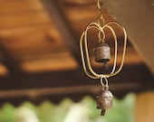 Indian Handmade Brass Windchime for Outdoor Garden Home Patio Hanging Decor idea Or Best for Giving Remembrance Gift for Those We Love