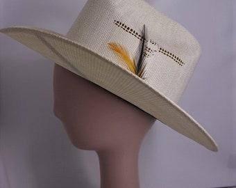 c129c870fa3 Vintage Unisex 1970s Laredo Straw Cowboy Hat 7 1 8