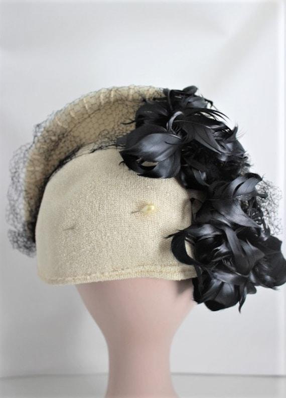 Fabulous Vintage 1930s / 40s Half Hat