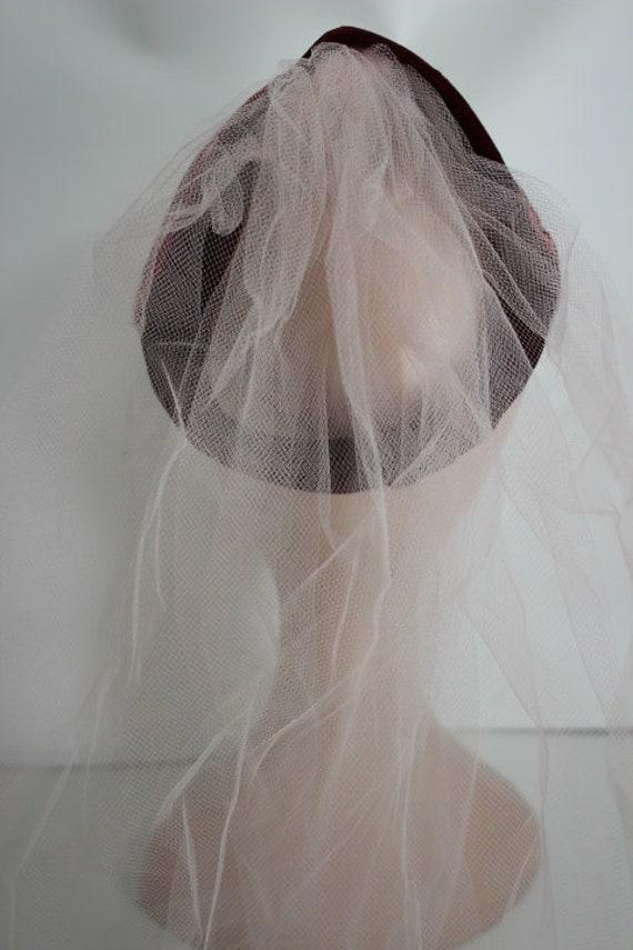 Vintage 40s , 50s German Womens Veiled Fascinator… - image 3