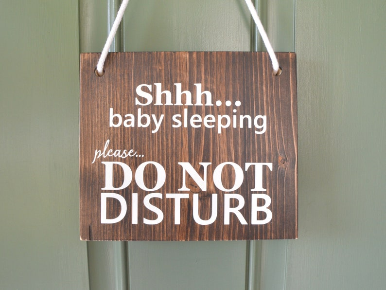Perfect Baby Shower Gift for a New Mom or Supply for a Midwife! Door Hanger Home Birth In Progress  Sleeping Baby Double Sided Option