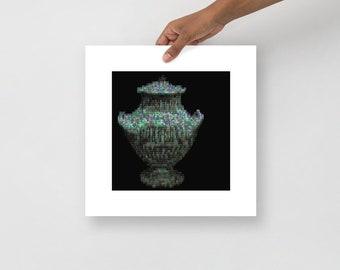 ASCII Vase Art Print