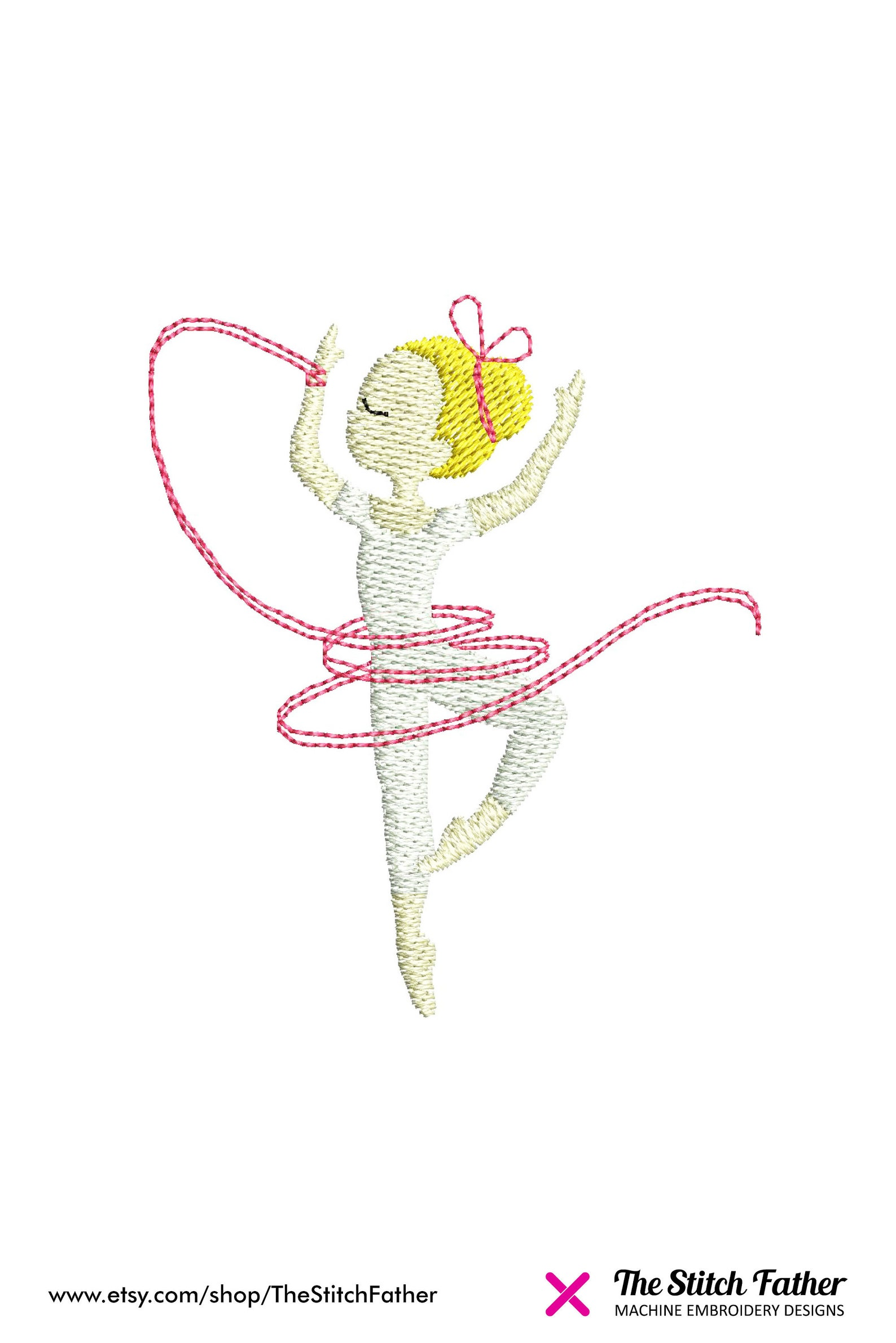 mini ballerina dancer machine embroidery design – ballerina girl dance ribbon ballet tutu – girl dance embroidery - instant down