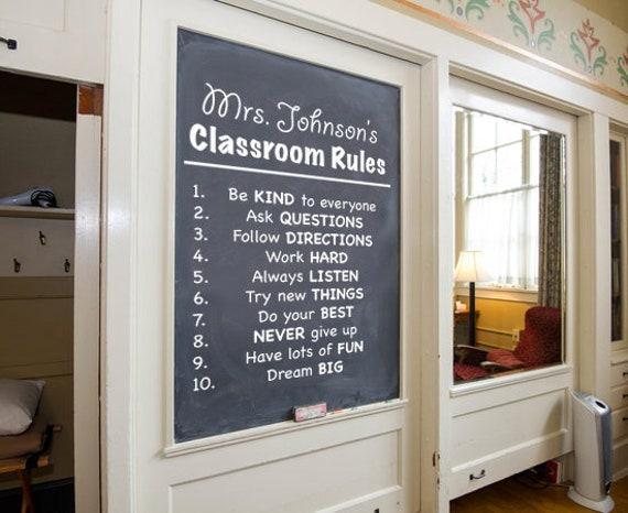 Regles De Classe Decor De Salle De Classe Sticker Mural Sticker