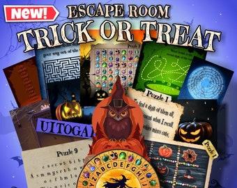 Halloween Escape Room Game DIY Halloween Printable Game Kit for Kids Halloween Escape Room | Halloween Party Game Halloween Gift Halloween