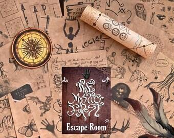 Escape Game Escape Room Game DIY Printable Game Kit Mystic Forest | Printable Escape Room Kit | DIY Escape Room | Printable Party Games