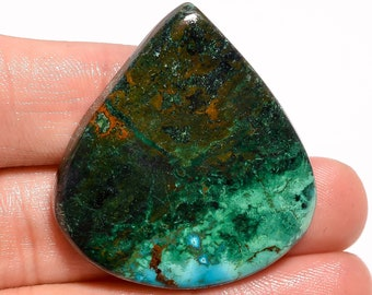 Quality 100/% Natural Azurite Chrysocolla Oval Shape Cabochon Loose Gemstone For Making Jewelry 34X30X7 mm MK-491 59 Ct Splendid AAA