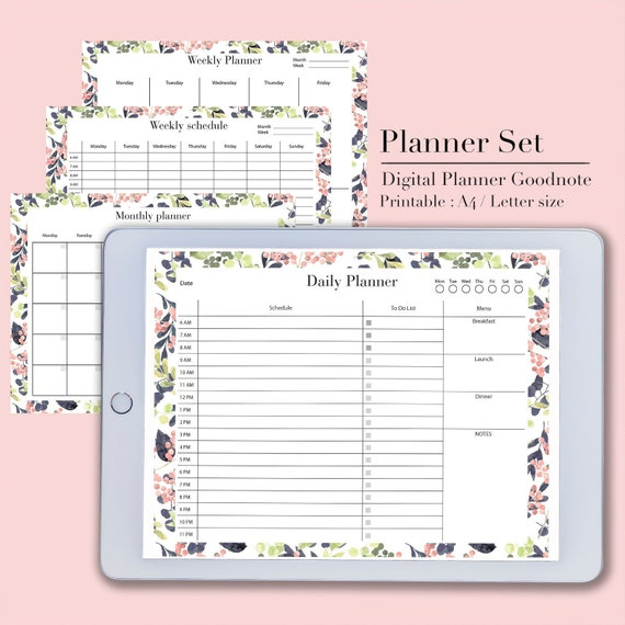 photo about Printable Student Planner Download referred to as Electronic planner Electronic obtain, Planner printable, Scholar planner, Goodnotes planner, educational planner, regular monthly planner, weekly planner
