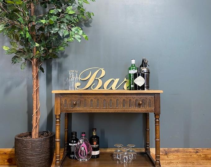 Vintage Jaycee Tea Trolley /Oak Sideboard / Drinks Trolley / Cocktail Bar