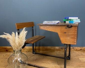 Vintage School Desk / Home Schooling Desk / Child's Desk / Antique Desk B