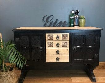 Vintage Sideboard / Vintage Cupboard / Vintage Drawers / Rustic Sideboard / Vintage Cocktail Cabinet
