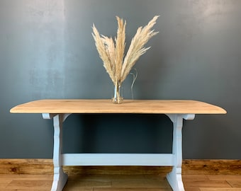 Ercol Table / Retro Dining Table / Vintage Kitchen Table / Rustic Table / Upcycled Dining Table / Rustic Kitchen Table / Farmhouse table