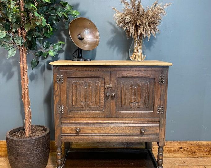 Vintage Jaycee Cabinet /Oak Sideboard / Drinks Cupboard / Cocktail Bar