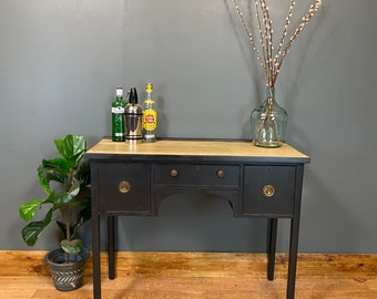 Vintage Sideboard / Painted Console / Rustic Cupboard/ Painted Black